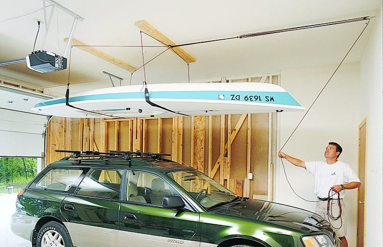 kayak storage above the car
