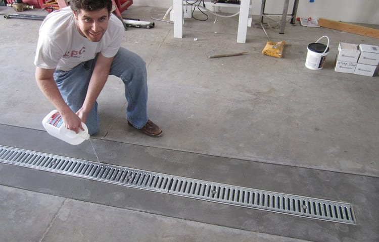 finished trench drain